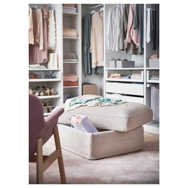 GRÖNLID Footstool with storage, Sporda natural