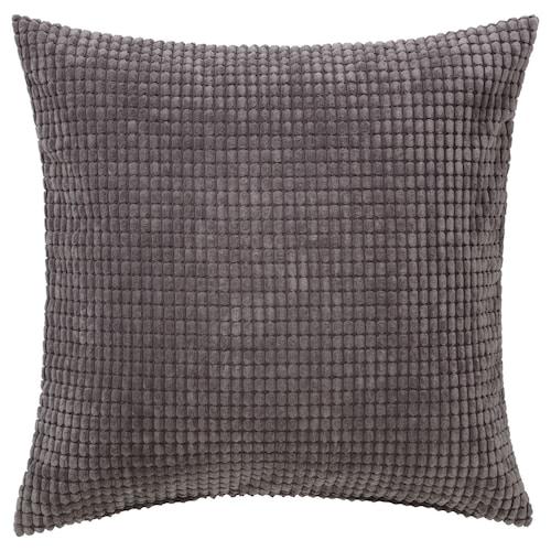 GULLKLOCKA cushion cover grey 50 cm 50 cm