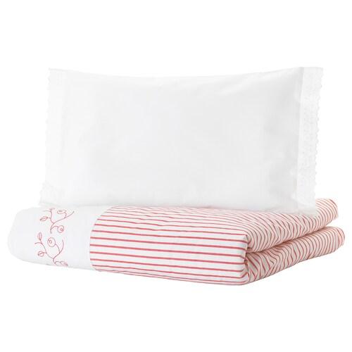 GULSPARV quilt cover/pillowcase for cot striped/red 125 cm 110 cm 55 cm 35 cm