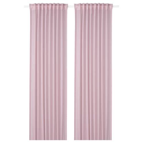 GUNRID air purifying curtain, 1 pair light pink 300 cm 145 cm 1.12 kg 4.35 m² 2 pack