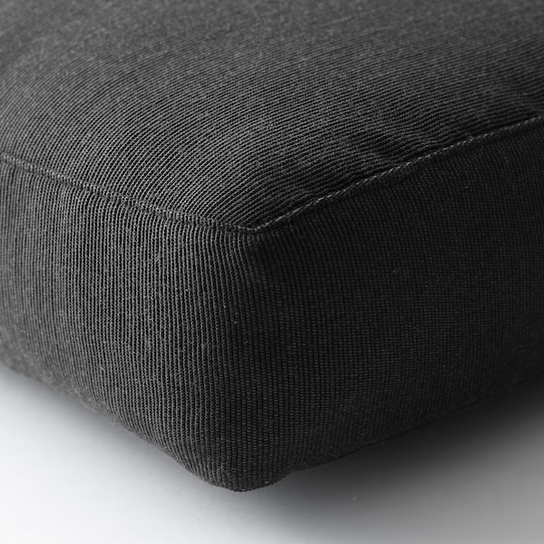 HÅLLÖ Seat cushion, outdoor, black, 62x62 cm