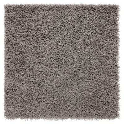 HAMPEN Rug, high pile, grey, 80x80 cm