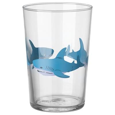 HAVSBASS Glass, shark, 40 cl
