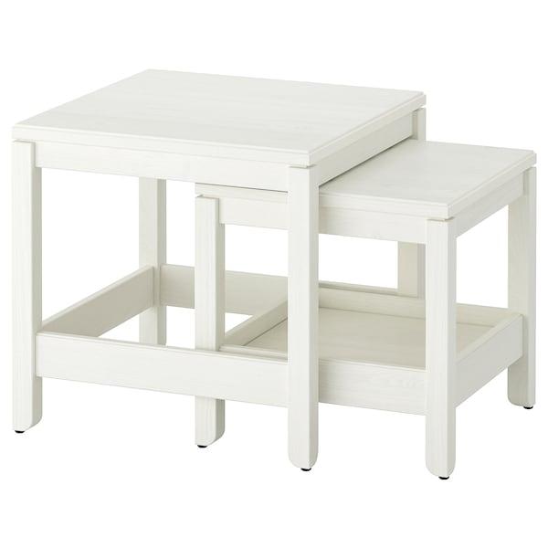 HAVSTA طاولات متداخلة، طقم من 2., أبيض