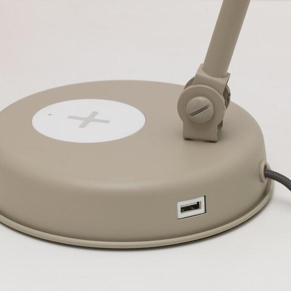 HEKTAR Work lamp with wireless charging, beige