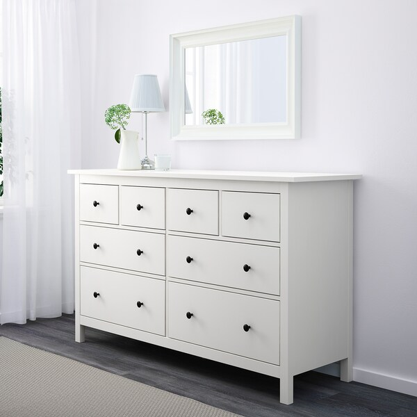 HEMNES Chest of 8 drawers, white, 160x96 cm