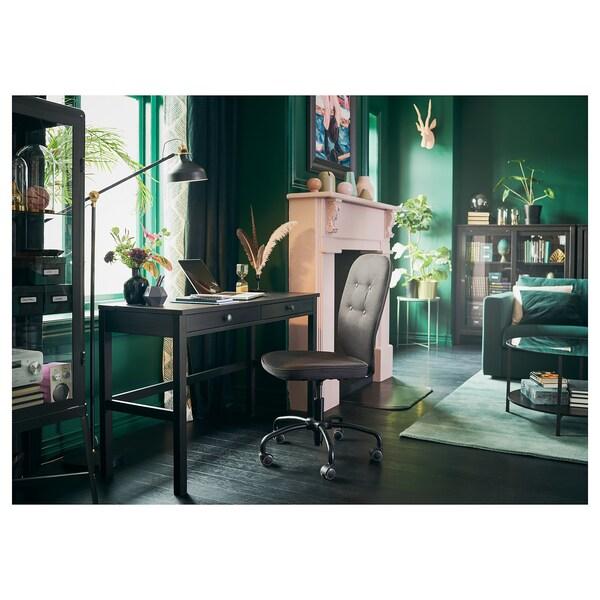 HEMNES Desk with 2 drawers, black-brown, 120x47 cm