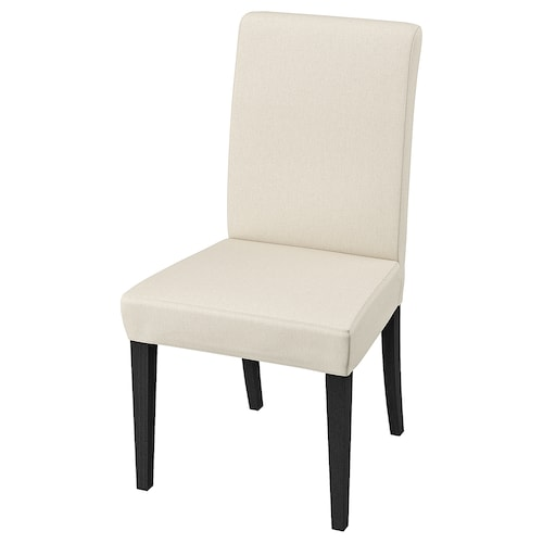 HENRIKSDAL chair dark brown/Linneryd natural 110 kg 51 cm 58 cm 97 cm 51 cm 42 cm 47 cm