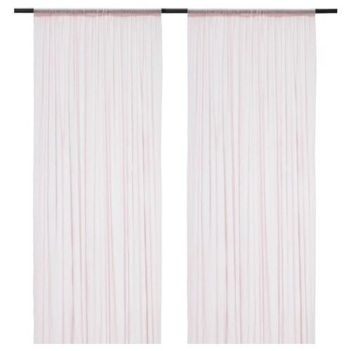 HILDRUN sheer curtains, 1 pair pink/dotted 300 cm 145 cm 0.62 kg 4.35 m² 2 pack
