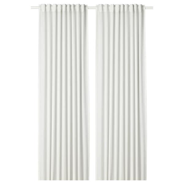 HILJA curtains, 1 pair white 300 cm 145 cm 1.03 kg 4.35 m² 2 pack