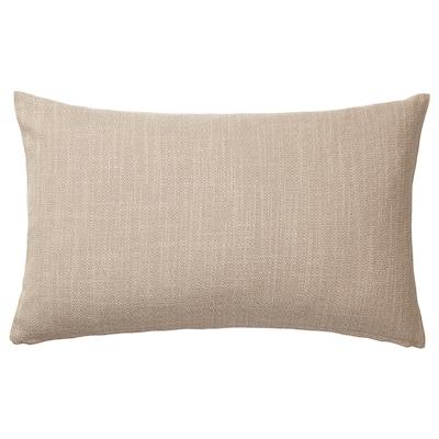HILLARED غطاء وسادة, بيج, 40x65 سم