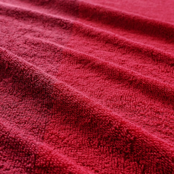 HIMLEÅN Hand towel, dark red/mélange, 40x70 cm