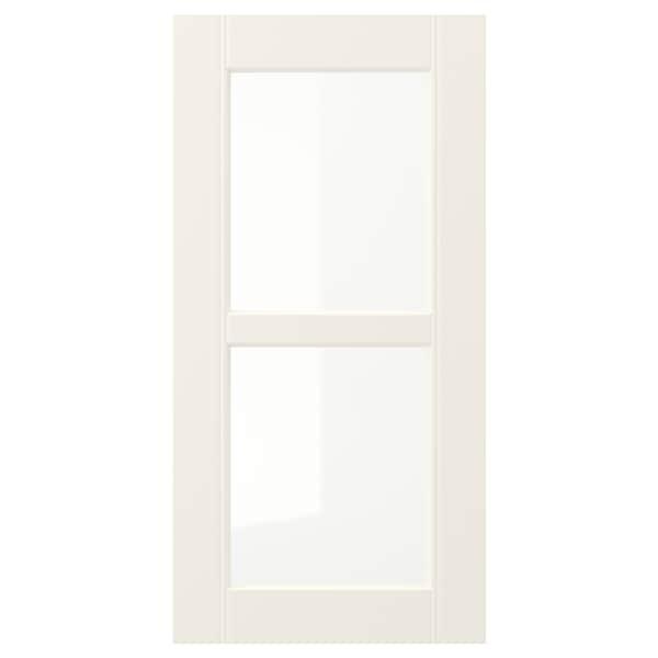 HITTARP Glass door, off-white, 30x60 cm