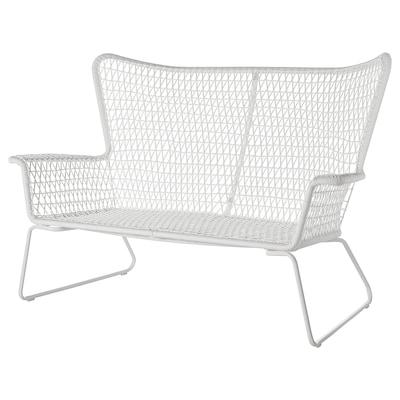 HÖGSTEN 2-seat sofa, outdoor, white