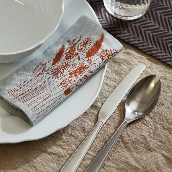 HÖSTKVÄLL مناديل ورقية, رمادي, 33x33 سم