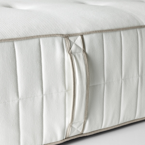 HOKKÅSEN Pocket sprung mattress, firm/white, 140x200 cm