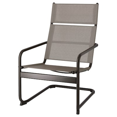 HUSARÖ Armchair, outdoor, dark grey