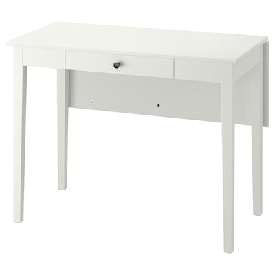 IDANÄS Drop-leaf table, white, 51/86x96 cm