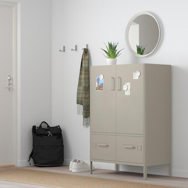 IDÅSEN Cabinet with smart lock, beige, 80x119 cm