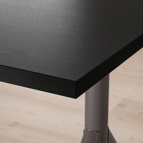 IDÅSEN مكتب, أسود/رمادي غامق, 120x70 سم