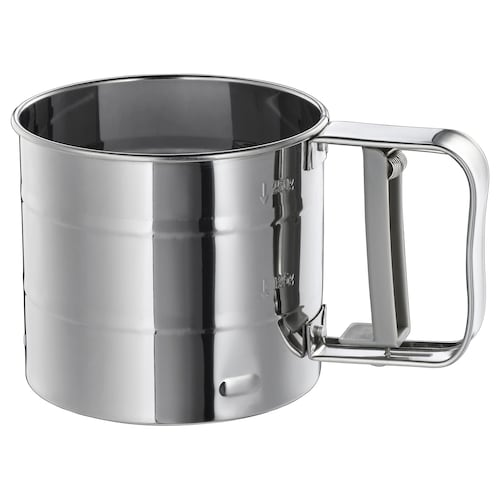 IDEALISK flour sifter stainless steel 9.5 cm 10.5 cm