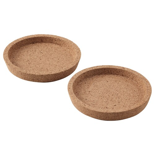 IKEA 365+ coaster cork 10 cm 2 pack