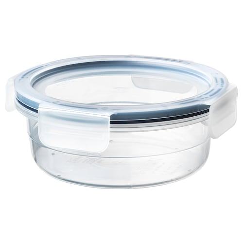 IKEA 365+ food container with lid round/plastic 6 cm 14 cm 450 ml
