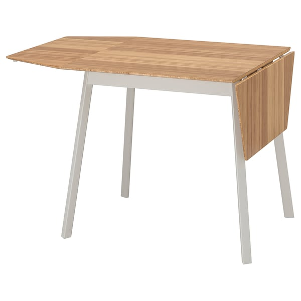 IKEA PS 2012 Drop-leaf table, bamboo/white, 74/106/138x80 cm