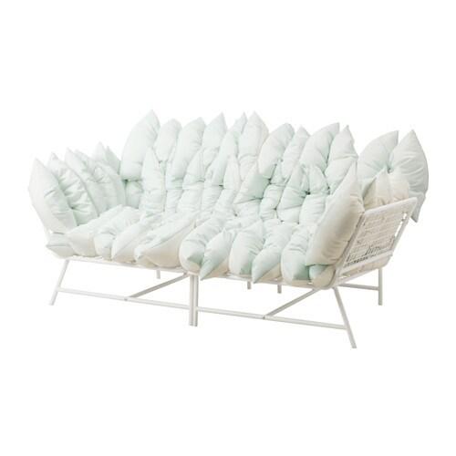 ikea ps 2017 2 seat sofa with 36 cushions white off white ikea. Black Bedroom Furniture Sets. Home Design Ideas