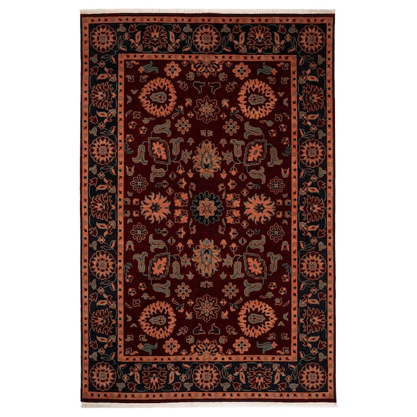 INDO MIX rug, low pile multicoloured, dark 300 cm 200 cm 6.00 m²