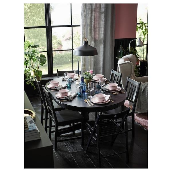 INGATORP Extendable table, black, 110/155 cm