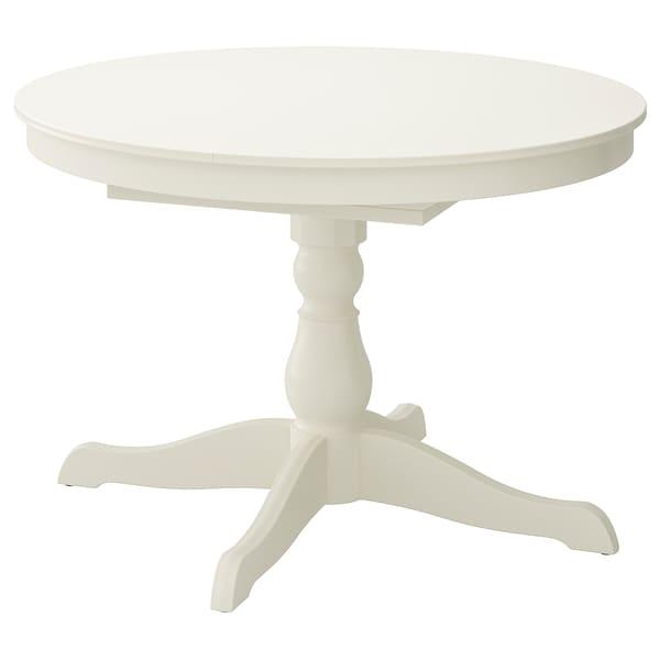 INGATORP Extendable table, white, 110/155 cm
