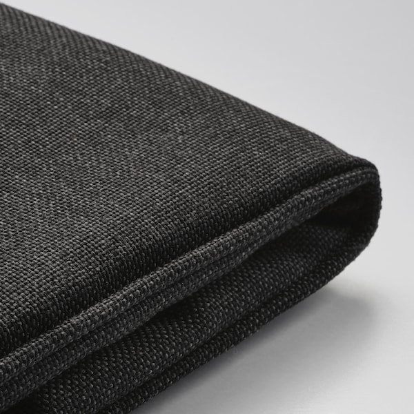 JÄRPÖN غطاء وسادة كرسي, خارجي فحمي, 50x50 سم