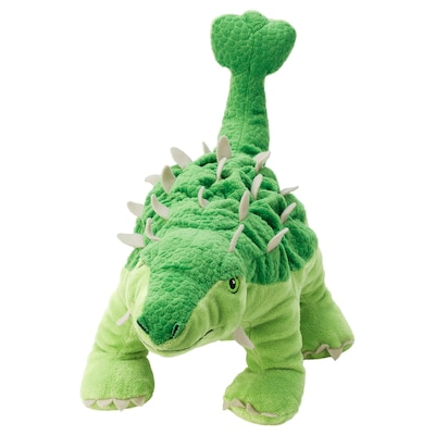 JÄTTELIK دمية طرية, بيضة / ديناصور/ديناصور/أنكيلوصور, 37 سم