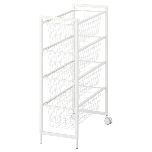 JONAXEL frame with wire baskets/castors 25 cm 51 cm 73 cm