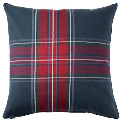 JUNHILD Cushion cover, blue/red, 50x50 cm