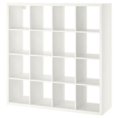 KALLAX وحدة أرفف, أبيض, 147x147 سم