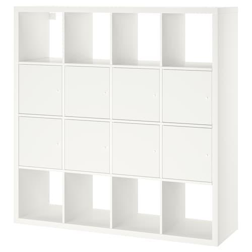 KALLAX shelving unit with 8 inserts white 147 cm 39 cm 147 cm 13 kg
