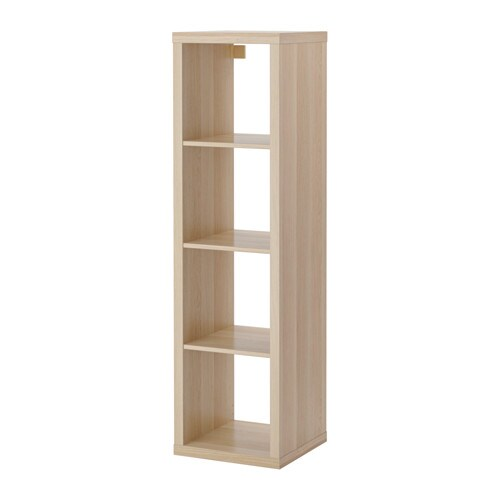 Kallax shelving unit white stained oak effect ikea - Etagere 4 cases ikea ...