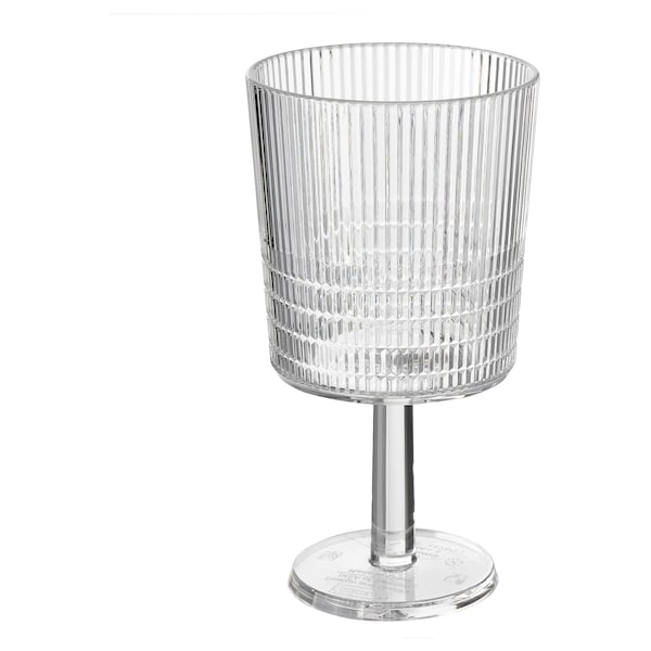 KALLSINNIG Juice glass, transparent plastic, 32 cl