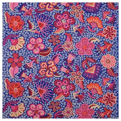 KARISMATISK قماش مقصوص, نقش منوع زهري/أزرق, 150x300 سم