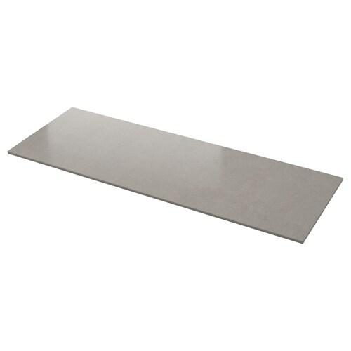 KASKER custom made worktop grey stone effect/quartz 100 cm 20 cm 300 cm 10.0 cm 135.0 cm 2.0 cm 1 m²