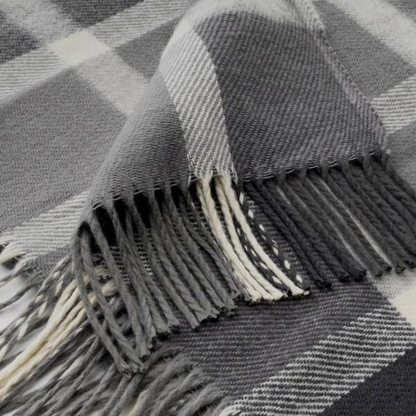 KAVELDUN Throw, grey/off-white, 130x180 cm