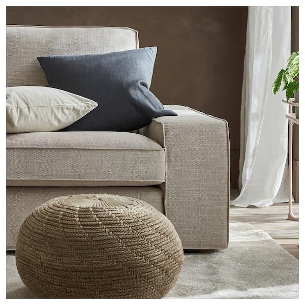 KIVIK U-shaped sofa, 6 seat, Hillared beige