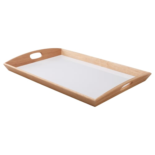 KLACK tray rubberwood 38 cm 58 cm