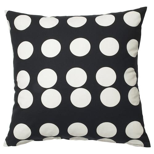 KLARASTINA cushion cover black/white 50 cm 50 cm