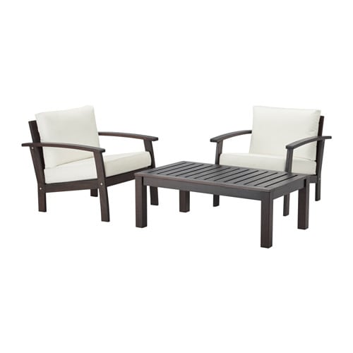 Kl ven kungs 2 seat conversation set outdoor brown for Outdoor furniture jeddah