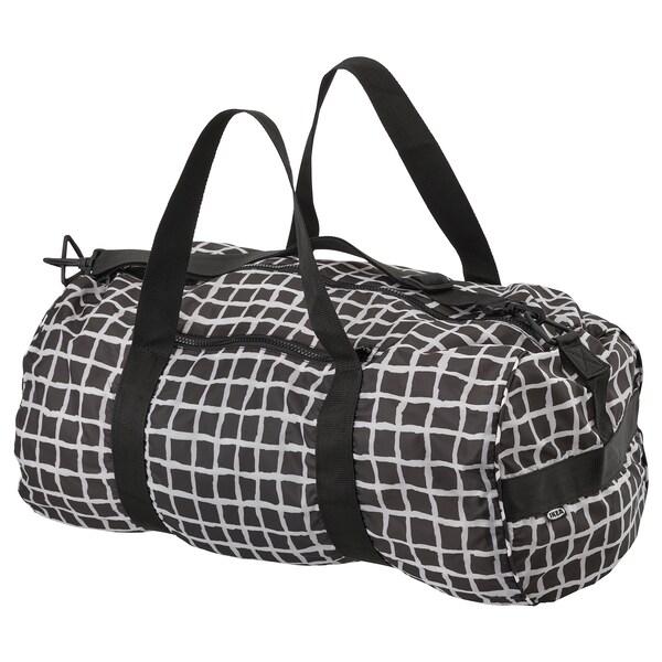 KNALLA sport bag black/white 54 cm 32 cm 40 l