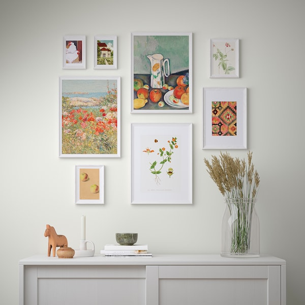 KNOPPÄNG Frame with poster, set of 8, Countryside living