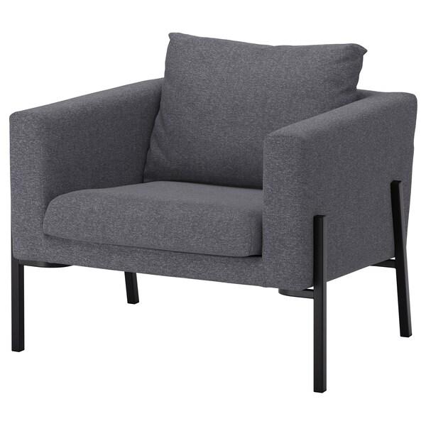 KOARP Armchair, Gunnared medium grey/black
